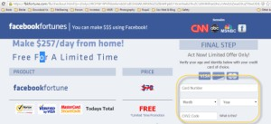 Berhati-hatilah dengan isian yang diminta pada scam link