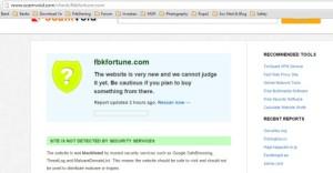 Contoh pengecekan link website dengan scammer check, perhatikan, status website tersebut apakah terindikasi di blok, ada laporan jelek lainnya, dll